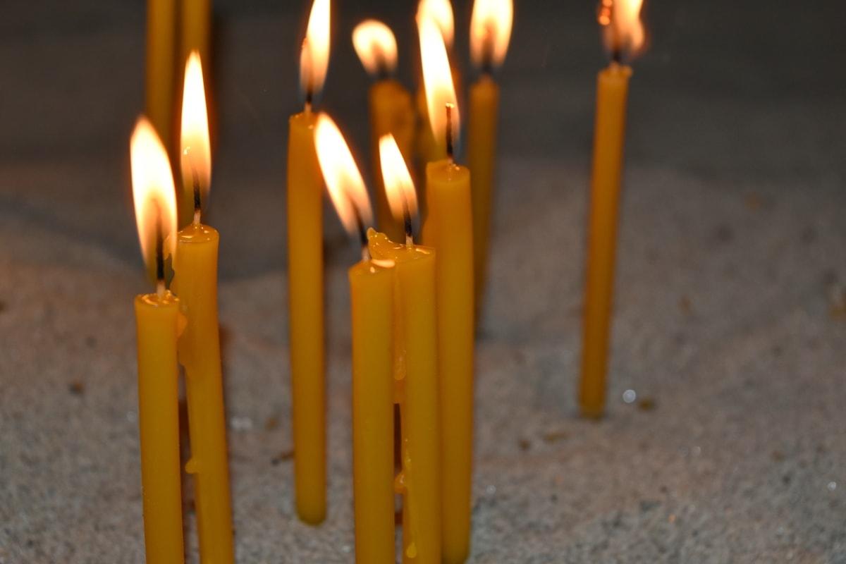 illuminazione, ombra, fiamma, luce, a lume di candela, candela, fuoco, masterizzare