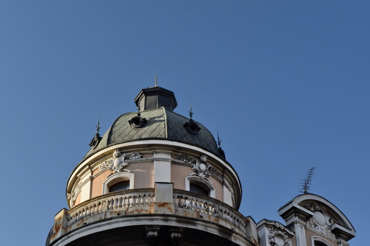 dome, tower, roof, architecture, covering, building, city, old
