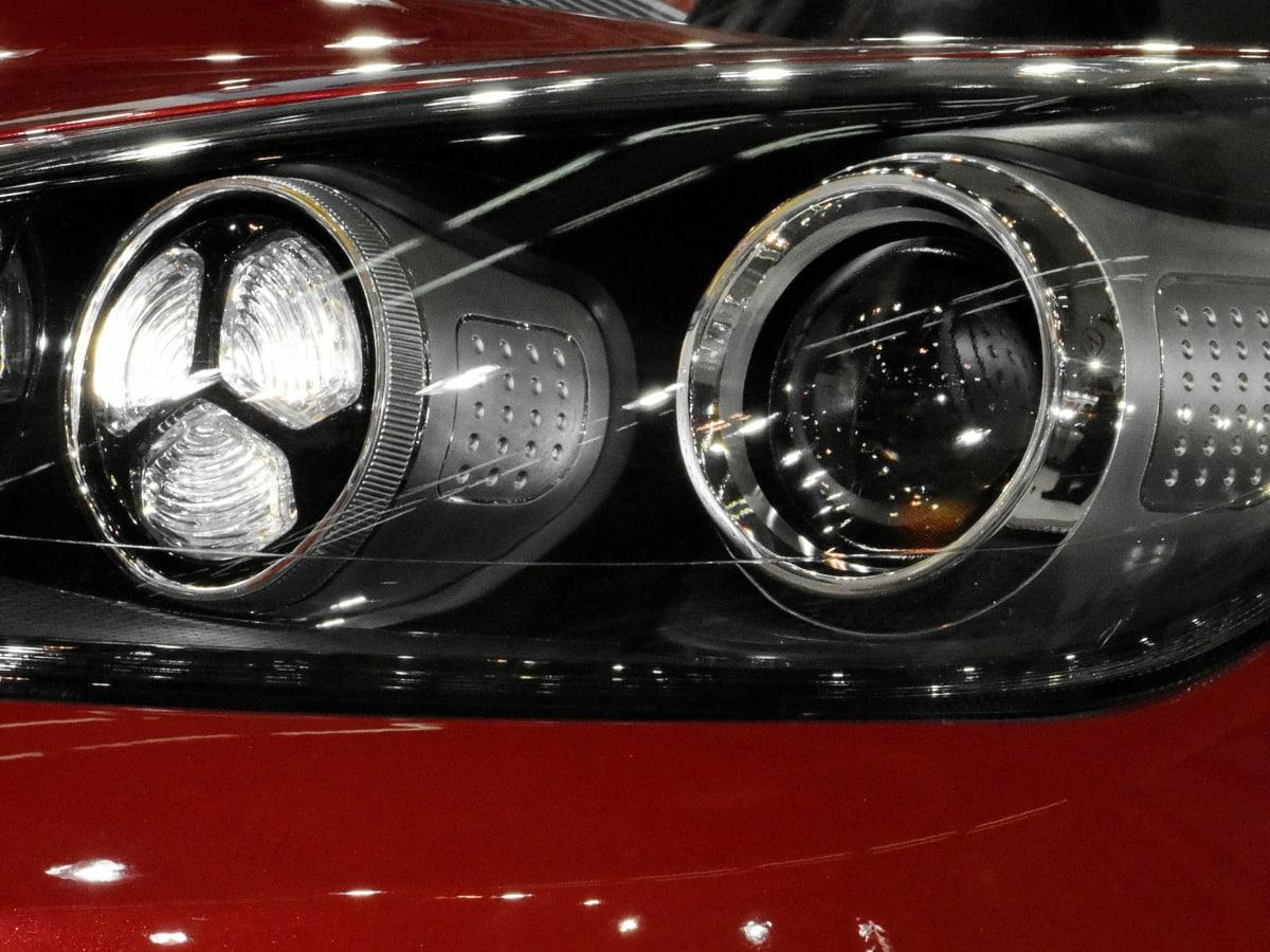 bumper, duur, gloeilamp, reflectie, koplamp, auto, auto, vervoer