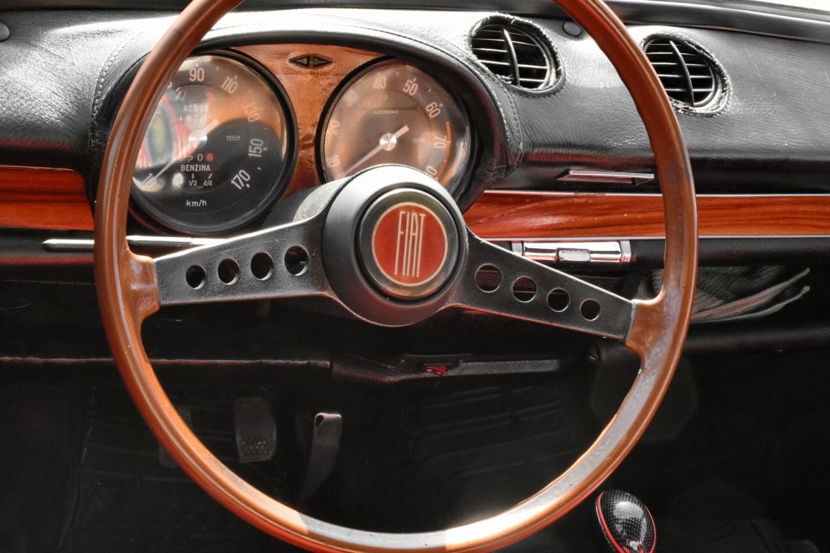 gearshift, interior design, italian, nostalgia, control, speedometer, dashboard, car