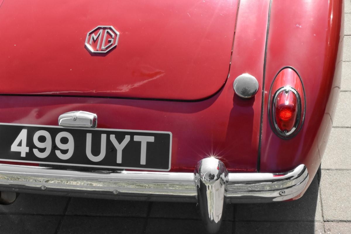 transportation, vehicle, bumper, automobile, car, chrome, classic, emergency