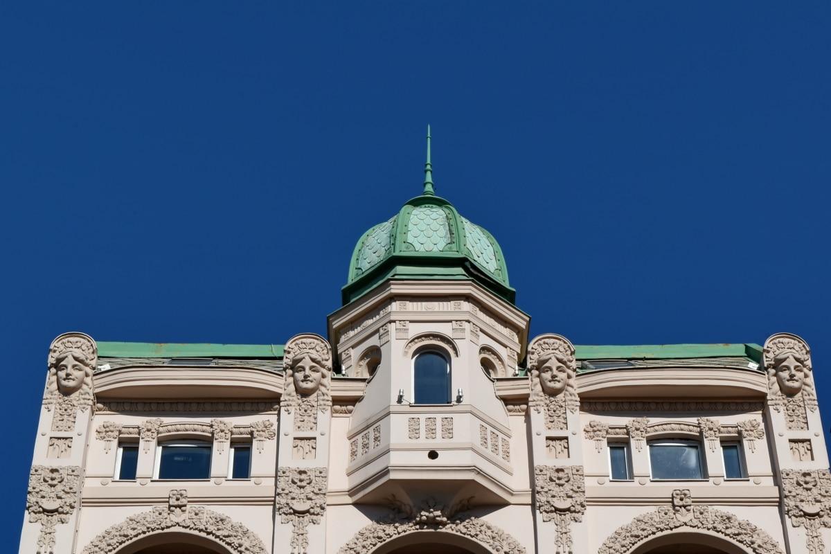 κτίριο, πρωτεύουσα, πρόσοψη, κληρονομιά, αρχιτεκτονική, στέγη, Θόλος, παλιά