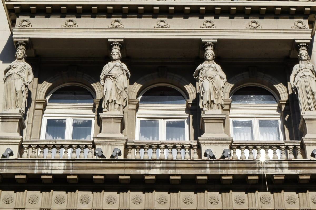 발코니, 수도, 유럽, 문화 유산, 조각, 궁전, 빌딩, 아키텍처