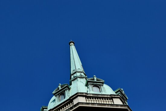 blue sky, capital city, dome, fair weather, tower, building, architecture, structure