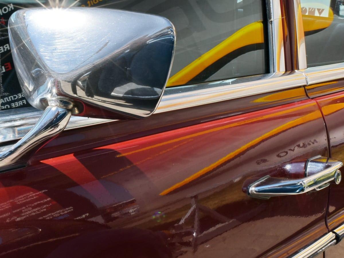 огледало, стар, отражение, блестящ, Прозорец, Транспорт, превозно средство, кола
