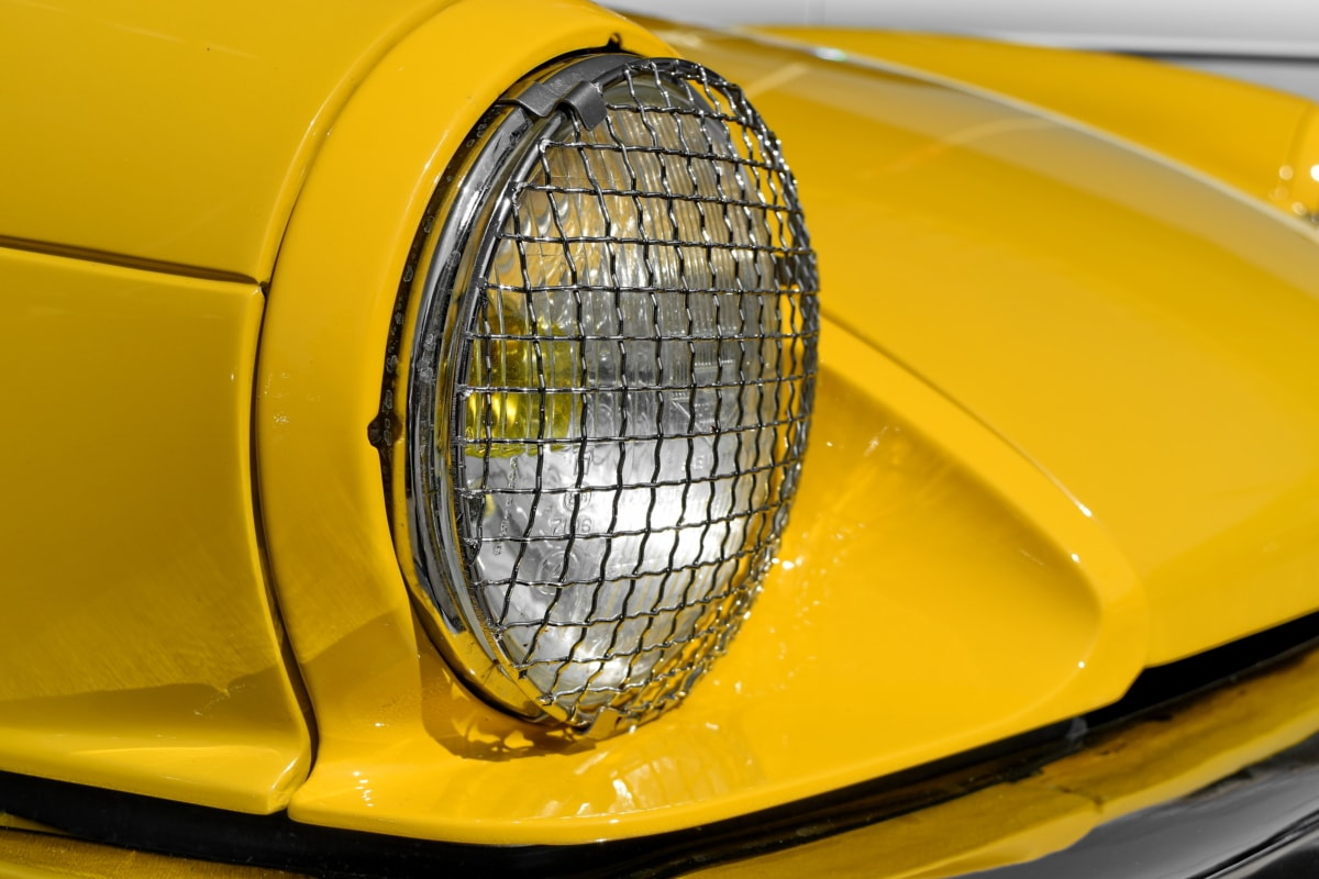 nostalgi, strålkastare, bil, fordon, klassisk, krom, automotive, plast