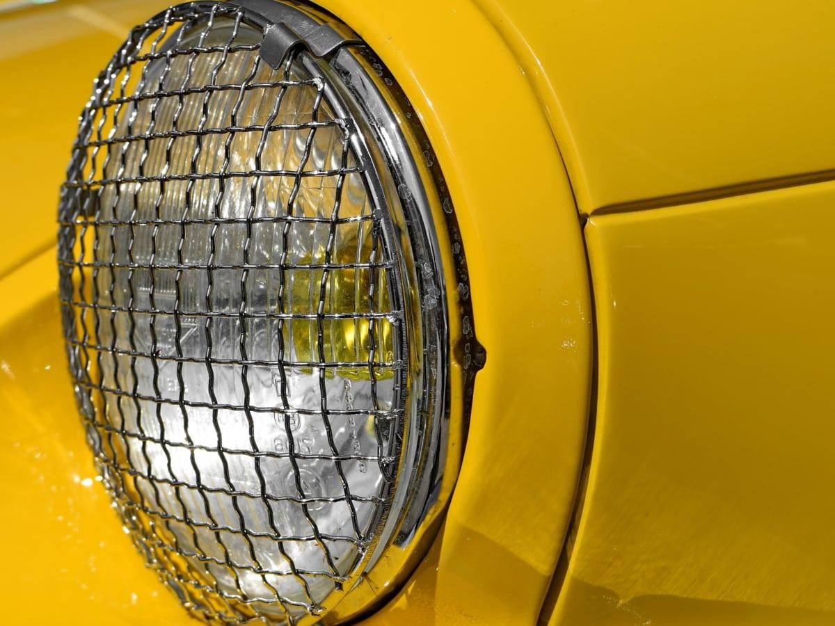 metal, headlight, device, car, classic, equipment, outdoors, vehicle