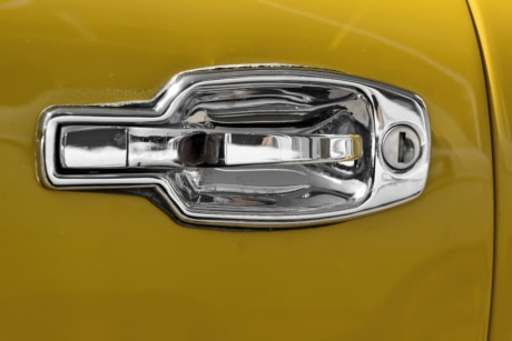 chrome, detail, detailed, metallic, word, car, transportation, automobile
