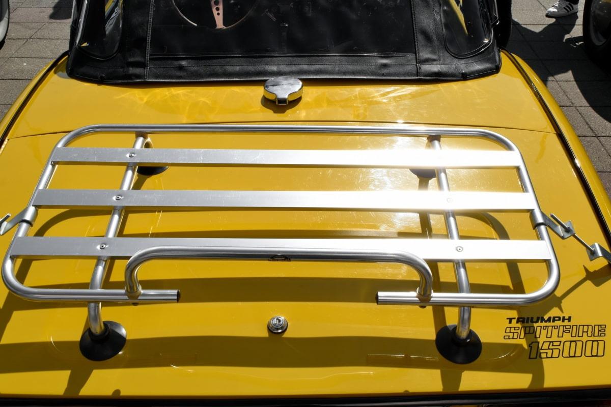 metal, nostalgija, boja, žuta, vozila, auto, prijevoz, promet