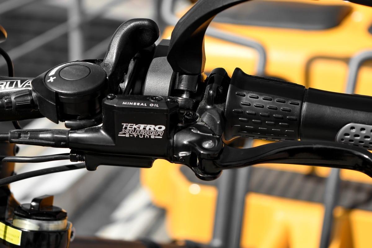 sykkel, luksus, moderne, rattet, girskifte, enheten, mekanisme, utstyr