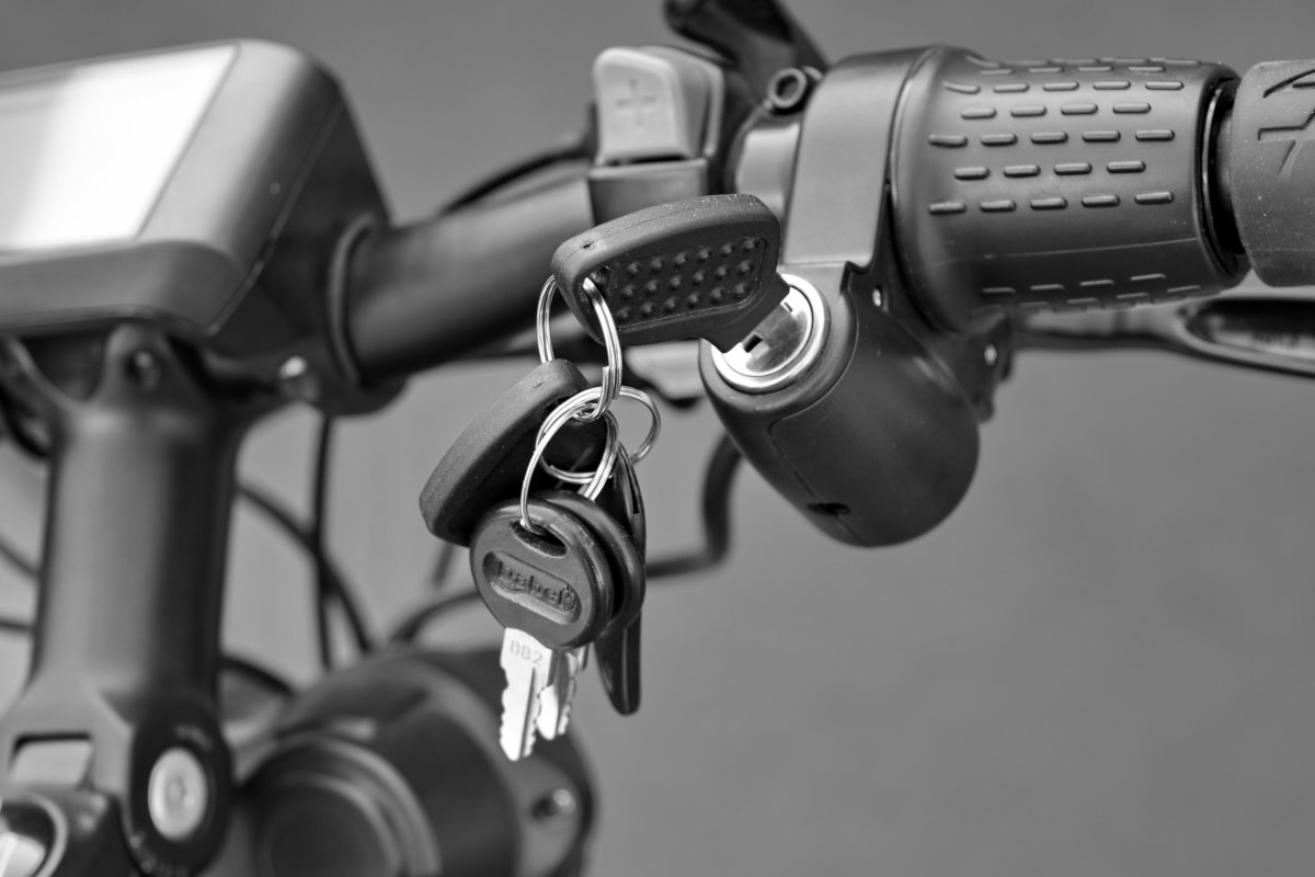 black and white, key, keyhole, motorcycle, steering wheel, wheel, chrome, equipment