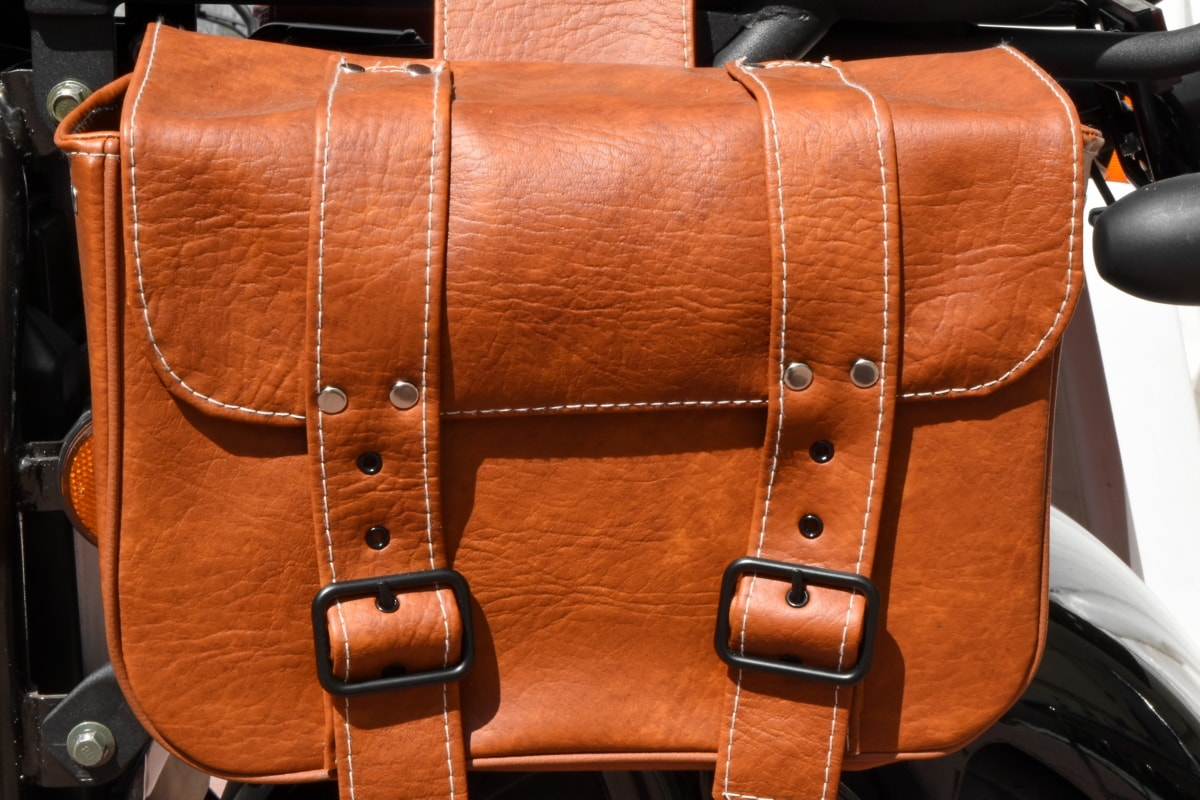 motorcycle, luggage, seat, leather, classic, style, luxury, old