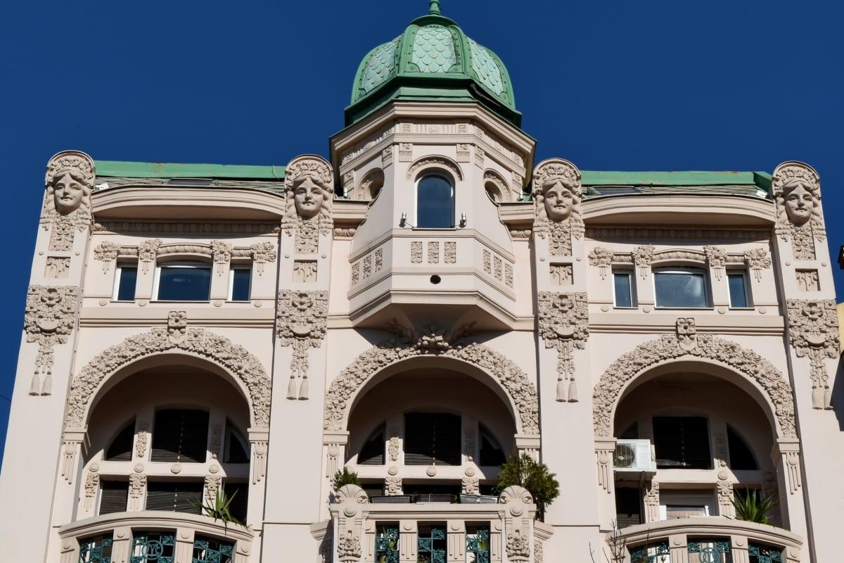 μπαλκόνι, πρωτεύουσα, τουριστικό αξιοθέατο, πρόσοψη, αρχιτεκτονική, κτίριο, πόλη, παλιά