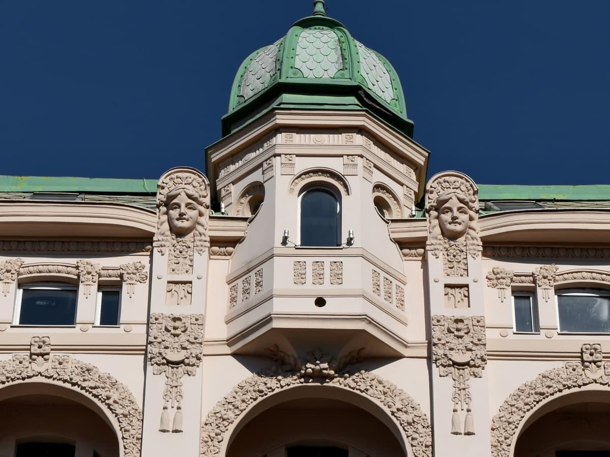 μπαρόκ, πρωτεύουσα, πρόσοψη, Θόλος, αρχιτεκτονική, κτίριο, θρησκεία, παλιά
