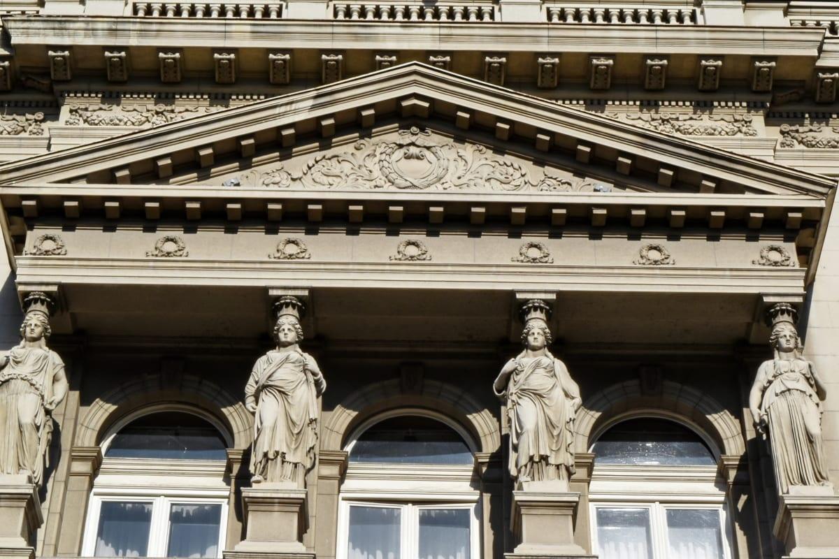 baroque, capital city, facade, sculpture, building, university, architecture, city