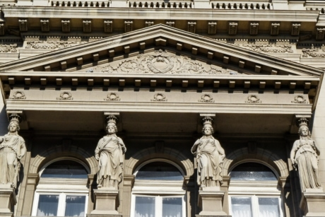 baroque, capital city, facade, sculpture, building, university, architecture, city