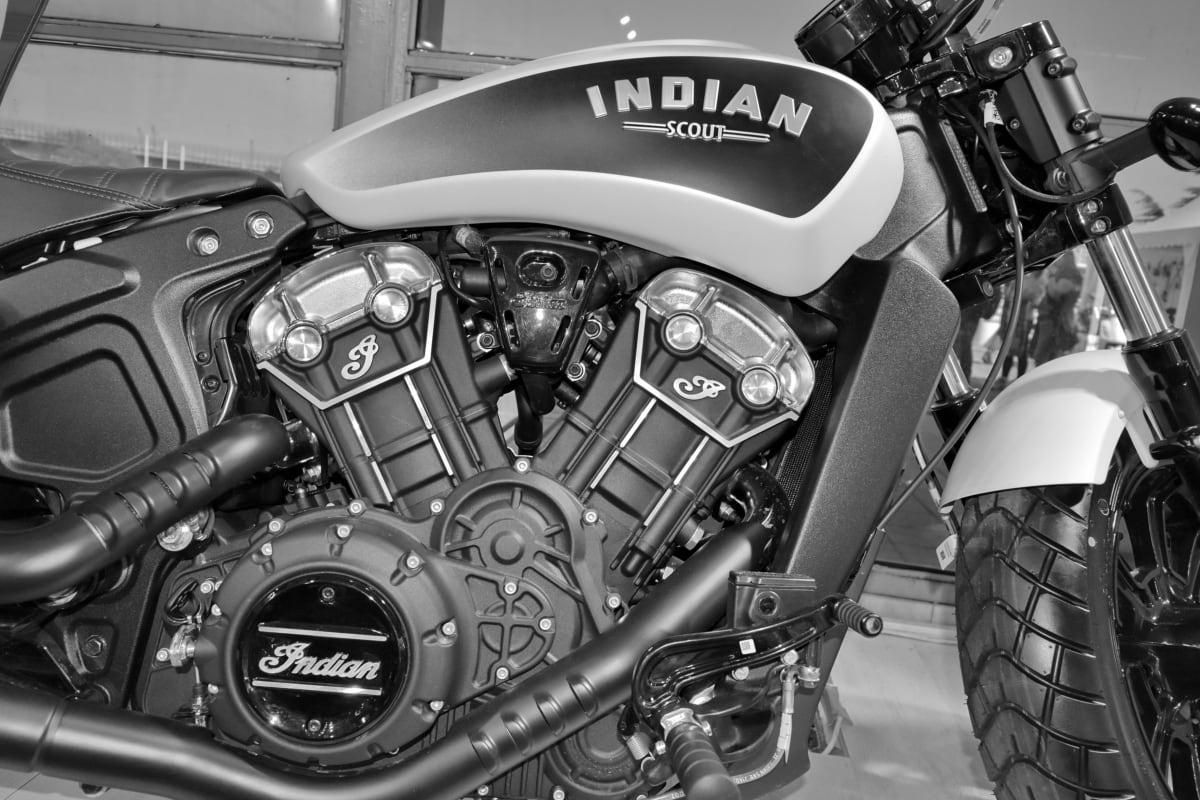 monochrome, motorcycle, vehicle, transportation, chrome, engine, drive, wheel