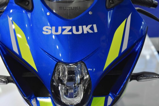 Suzuki, blue, motorcycle, windshield, competition, championship, vehicle, fast, industry