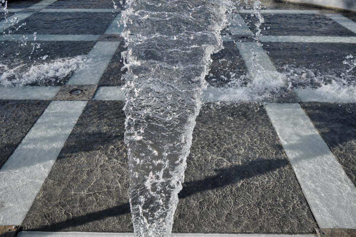 ibu kota, Splash, trotoar, air mancur, struktur, aspal, batu, jalan