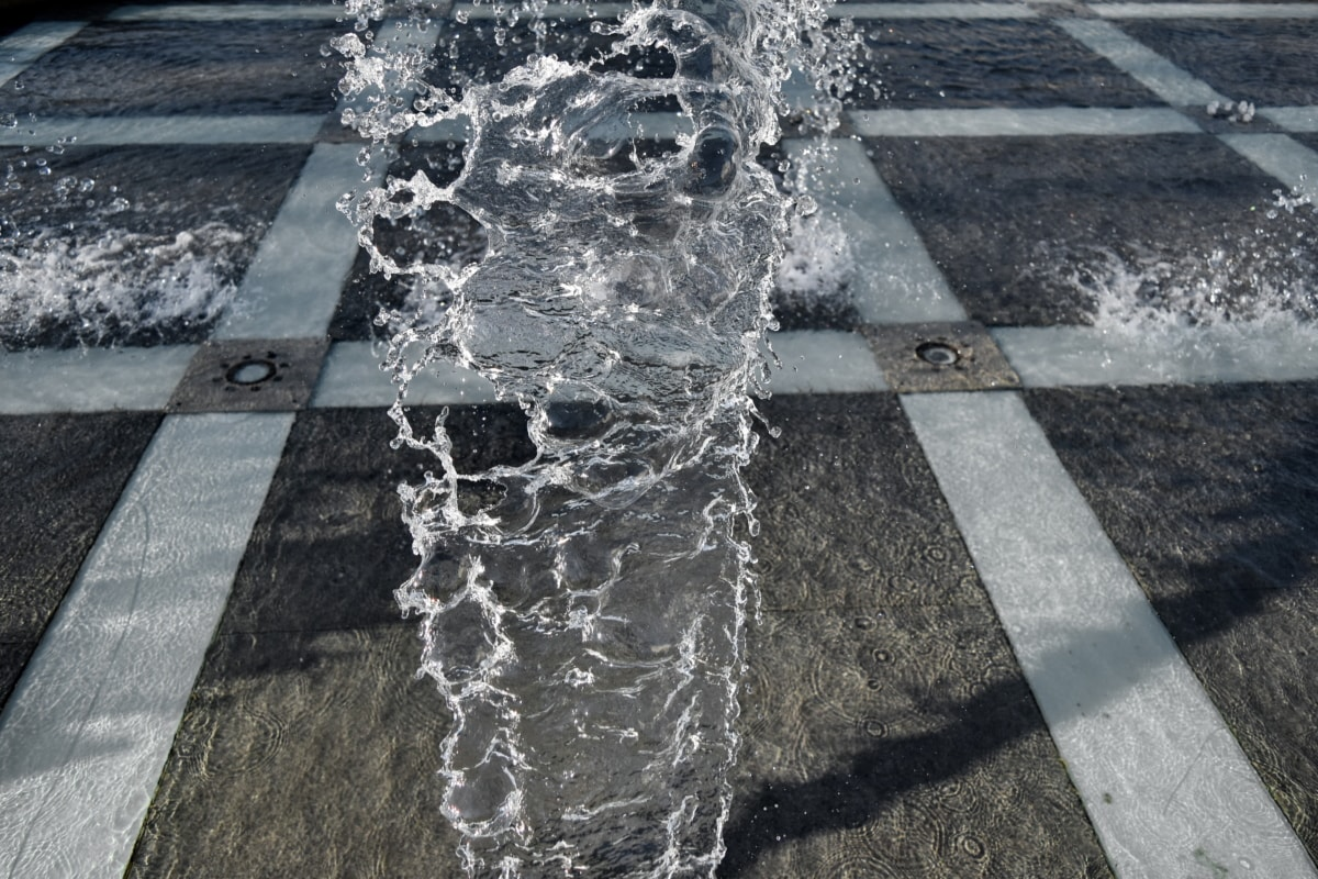 structure, fountain, wet, pavement, water, texture, cold, pattern