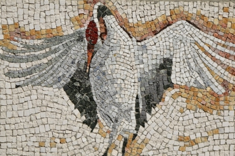 art, bird, elegant, wall, texture, mosaic, old, abstract
