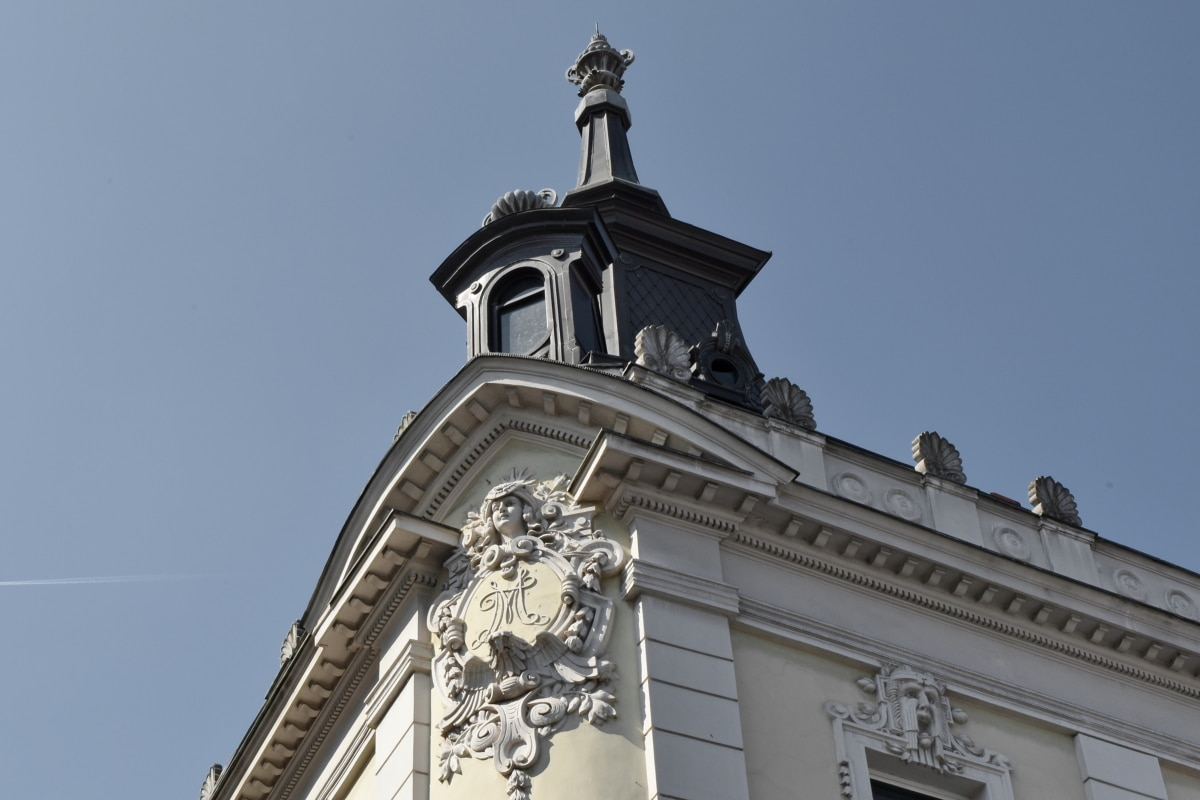 baroque, capital city, facade, architecture, tower, building, outdoors, city