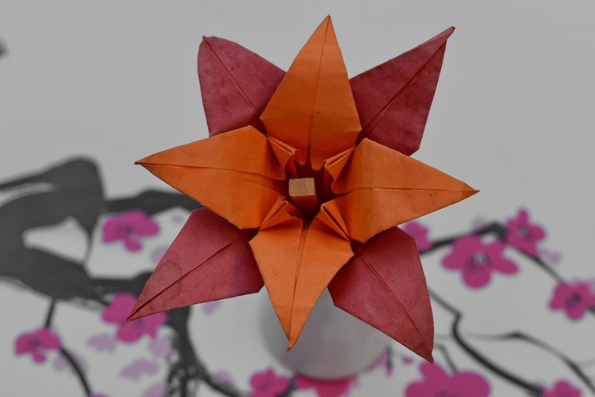 decoración, Origami, papel, naturaleza muerta, brillante, hoja, naturaleza, flor