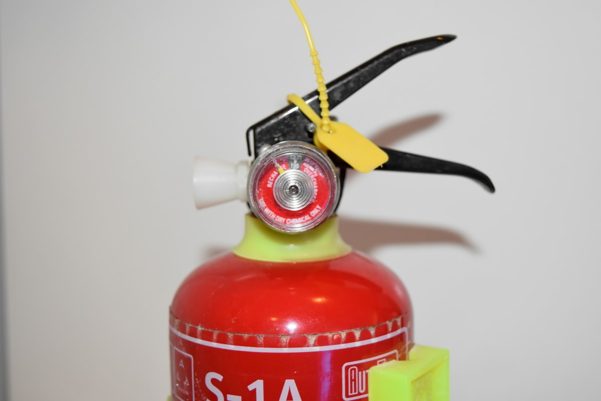 device, fire extinguisher, plastic, danger, color, emergency, safety, container