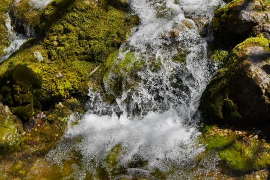 waterfall, rock, water, fountain, stream, forest, structure, river