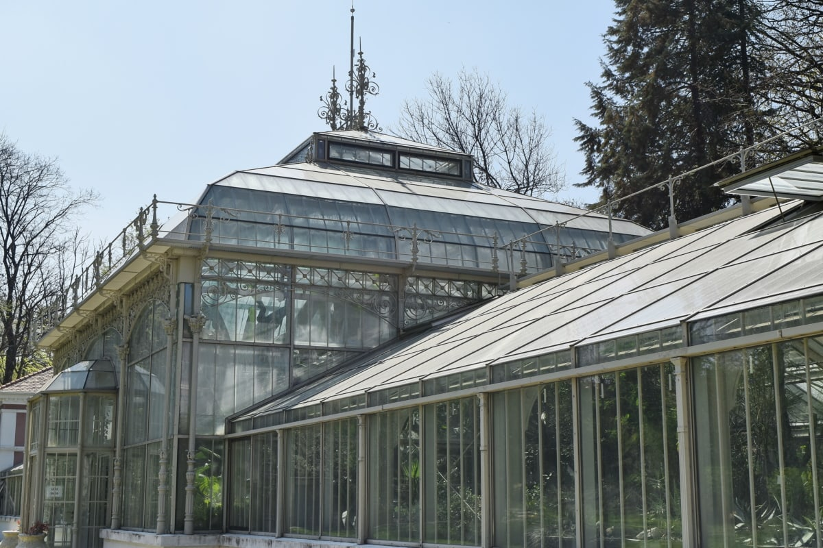 botanical, garden, greenhouse, architecture, structure, building, construction, window