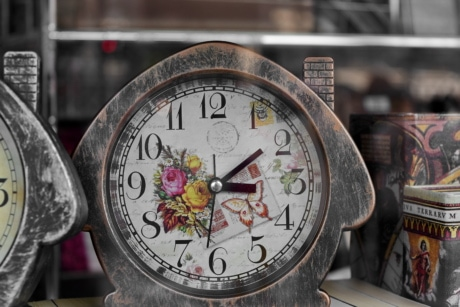old fashioned, clock, time, number, old, antique, minute, precision