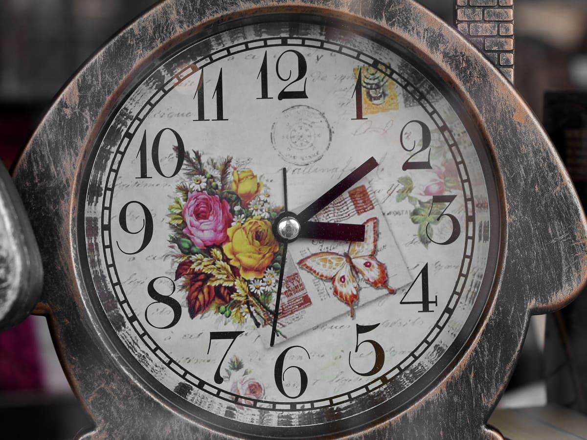 radio-réveil, style ancien, Vintage, minute, montre, temps, horloge, vieux