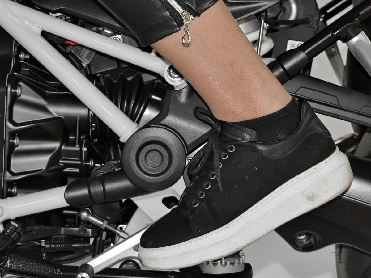 chaussures, jambe, moto, véhicule, transport, équipement, roue, sport