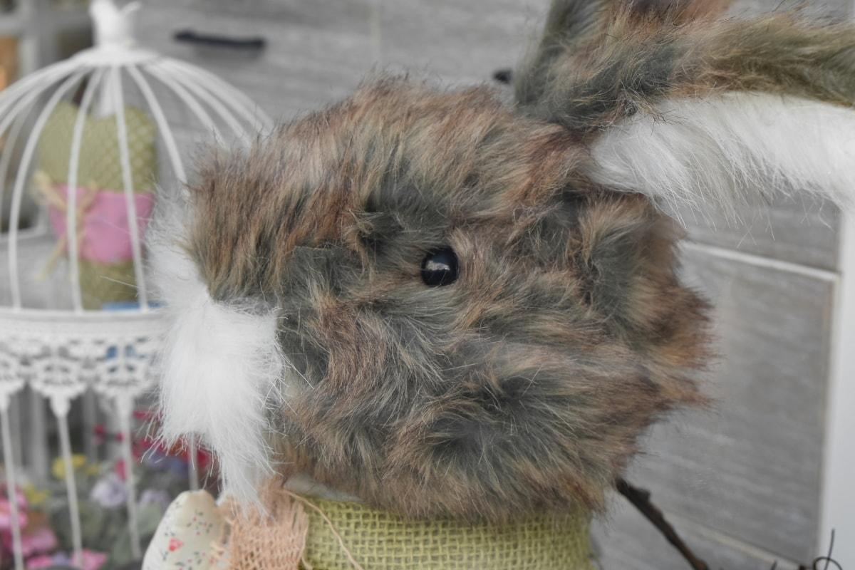 decoration, toys, toyshop, fur, rabbit, animal, cute, portrait