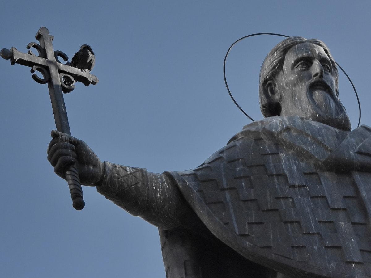 bronze, christianity, orthodox, sculpture, Serbia, art, statue, monument