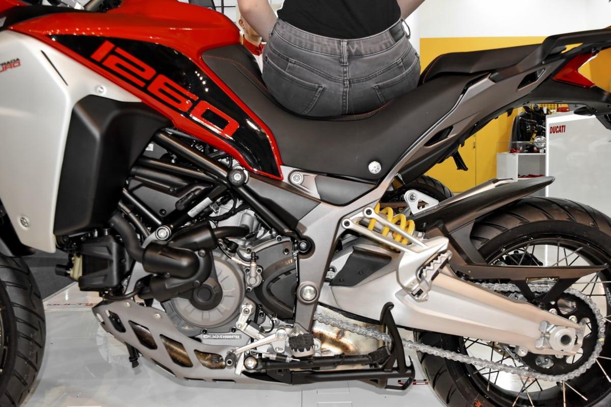 motor, ingeniørarbejde, Pige, motorcykel, skinnende, transport, sæde, hjulet