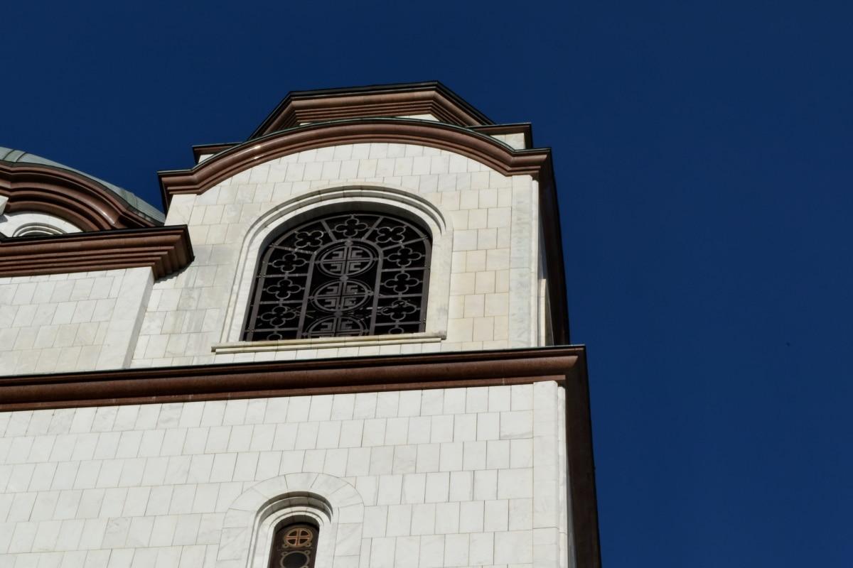 architektonický styl, orientační bod, fasáda, náboženství, budova, architektura, kostel, věž