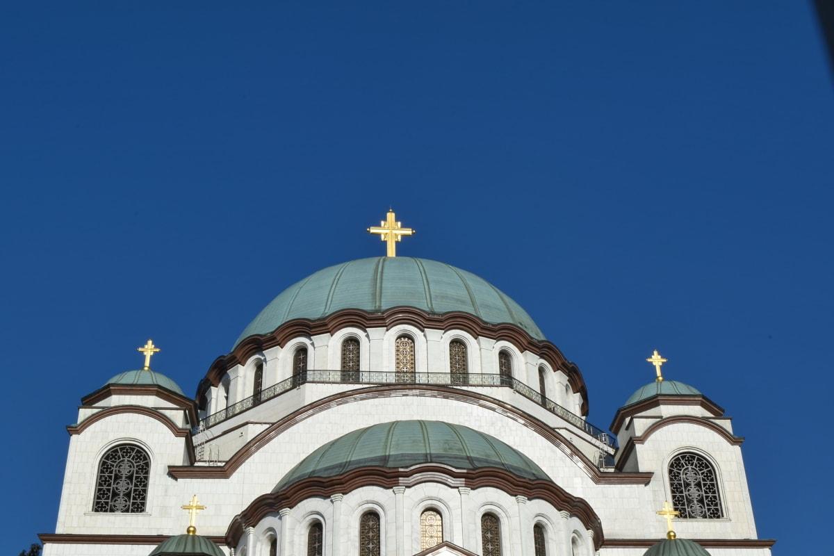 Ortodoksinen, arkkitehtuuri, rakentaminen, uskonto, kupoli, rakenne, kirkko, ulkona