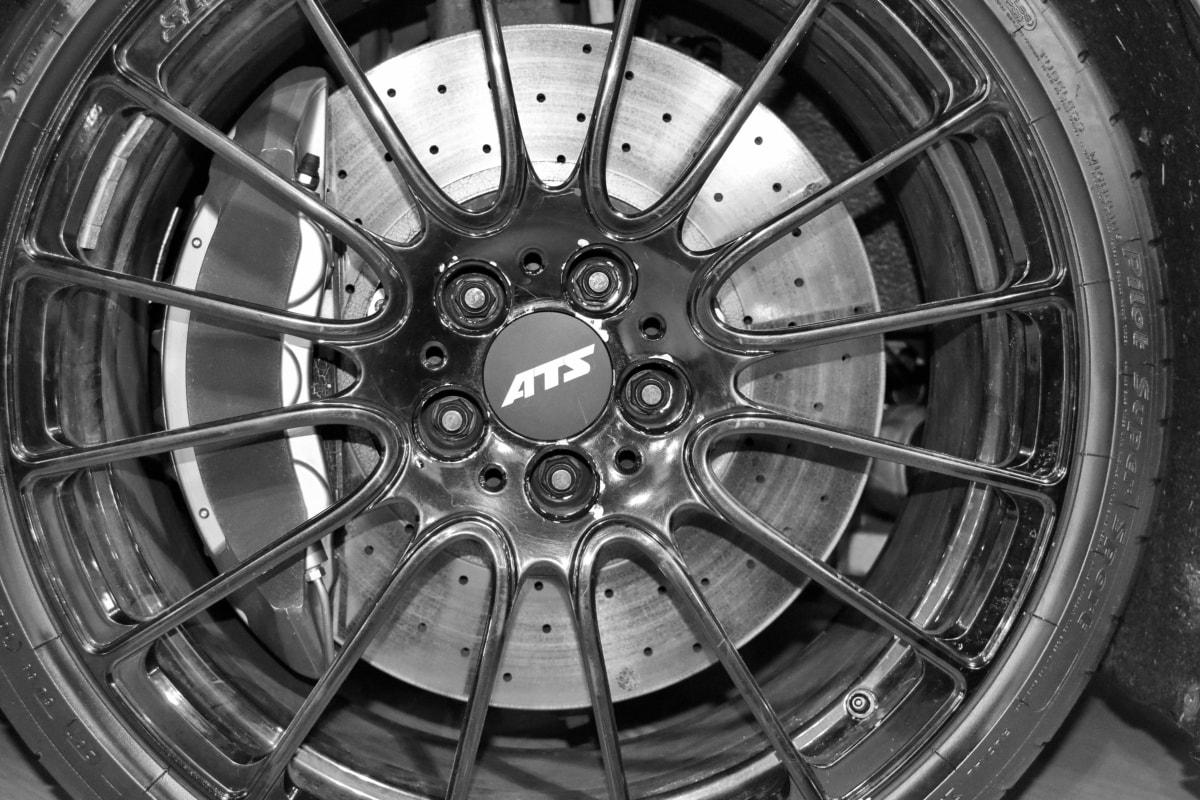 aluminum, black and white, brake, part, wheel, machine, vehicle, technology