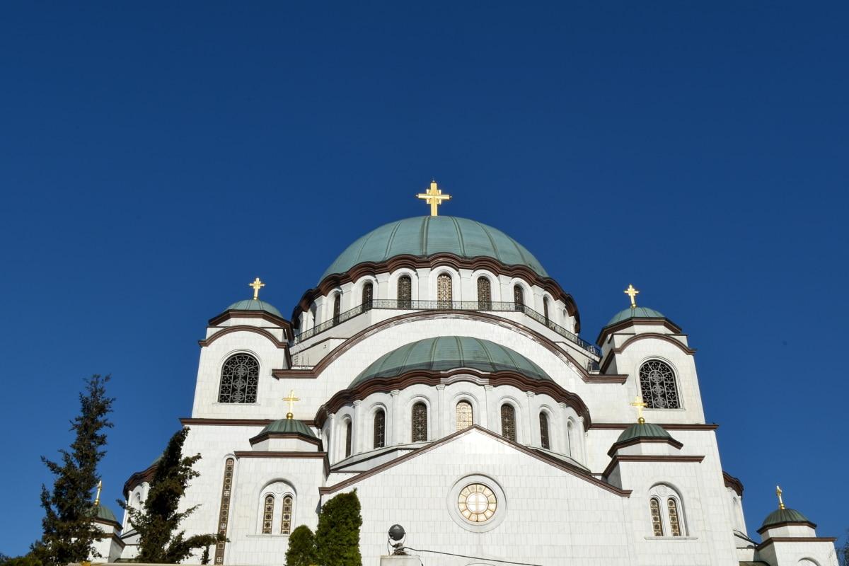 Balcan, capitale, steeple, orthodoxe, attraction touristique, Création de, Église, architecture