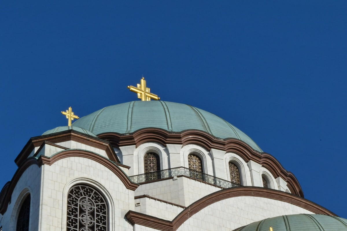 Byzantine, capital city, Serbia, religion, roof, architecture, church, dome