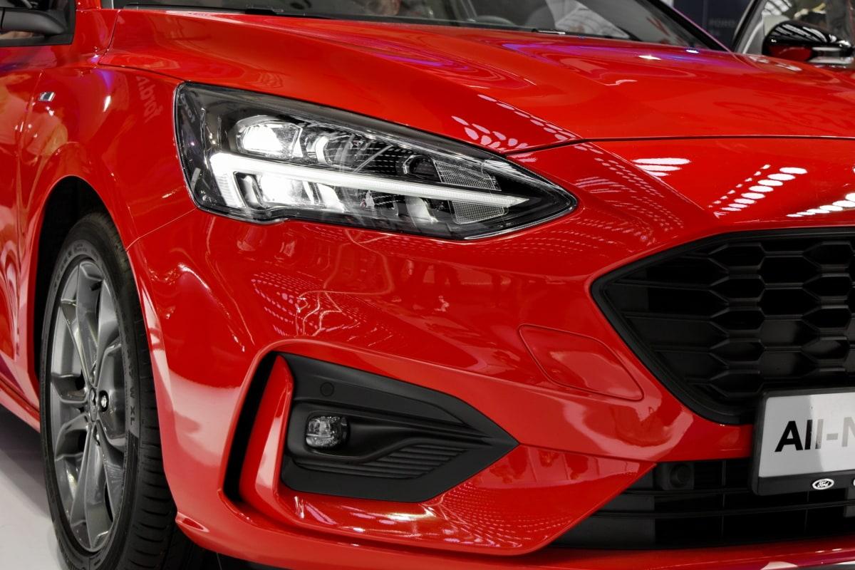 headlight, red, sports car, car, race, transportation, fast, vehicle