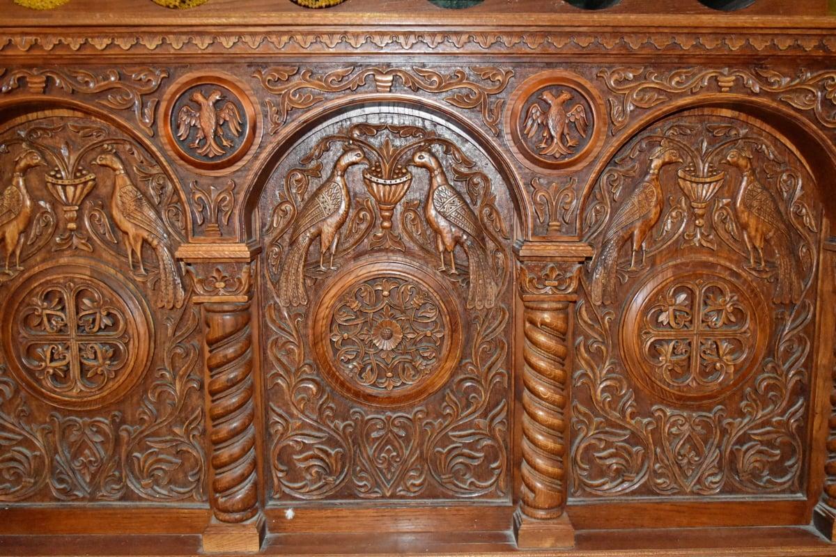 handmade, hardwood, old, antique, decoration, pattern, design, art