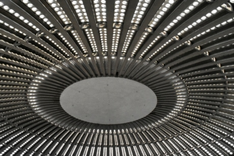 architectural style, ceiling, interior decoration, pattern, abstract, steel, design, perspective