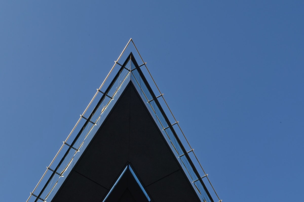архитектура, структура, стомана, бизнес, на открито, високо, технология, модерни