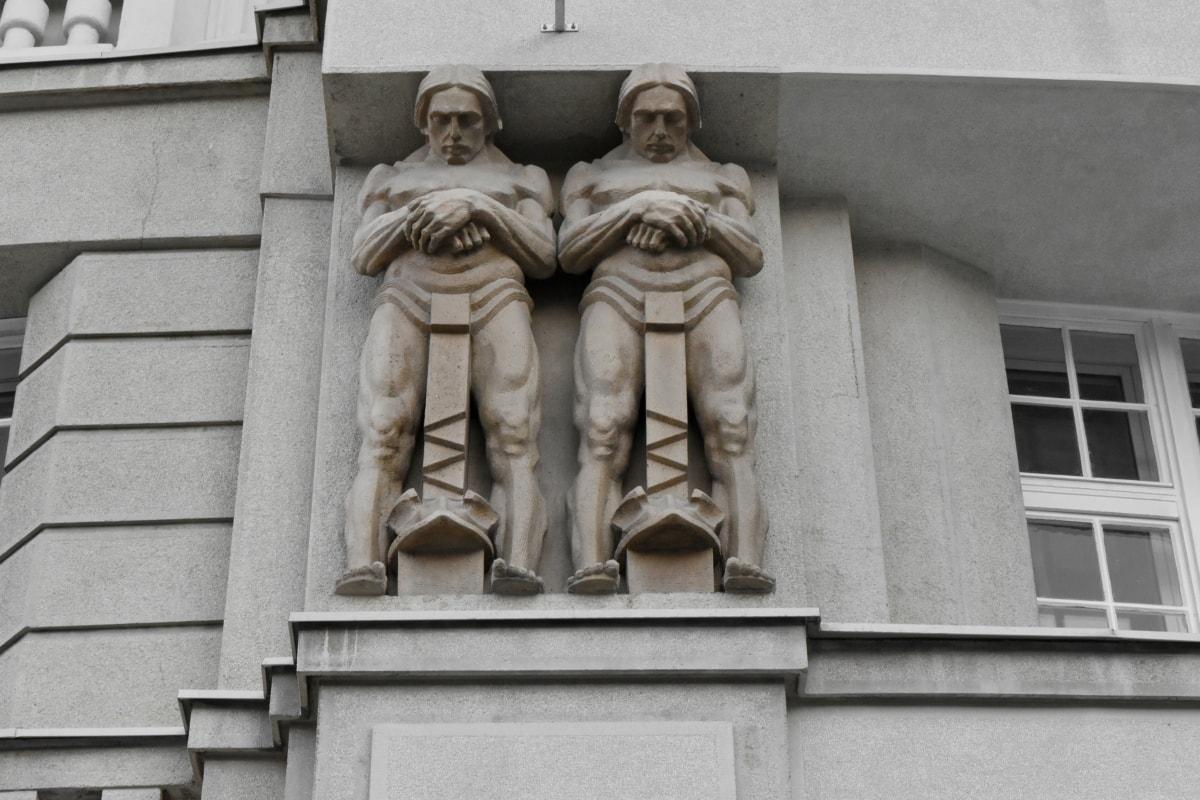 statue, structure, sculpture, pedestal, monument, architecture, column, building