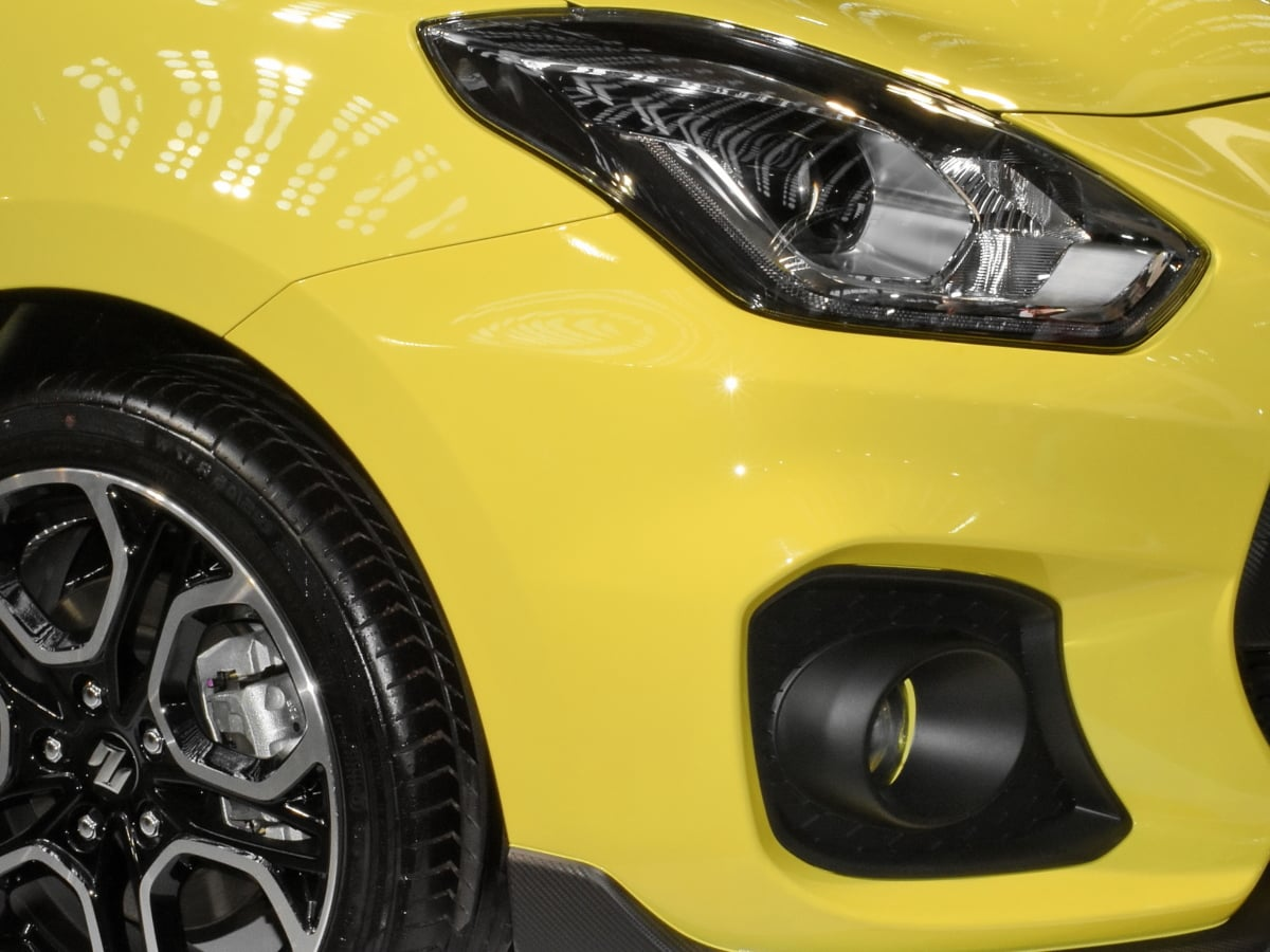 světlomet, sportovní auto, do žluta, auto, automobil, jednotka, pneumatika, stroj