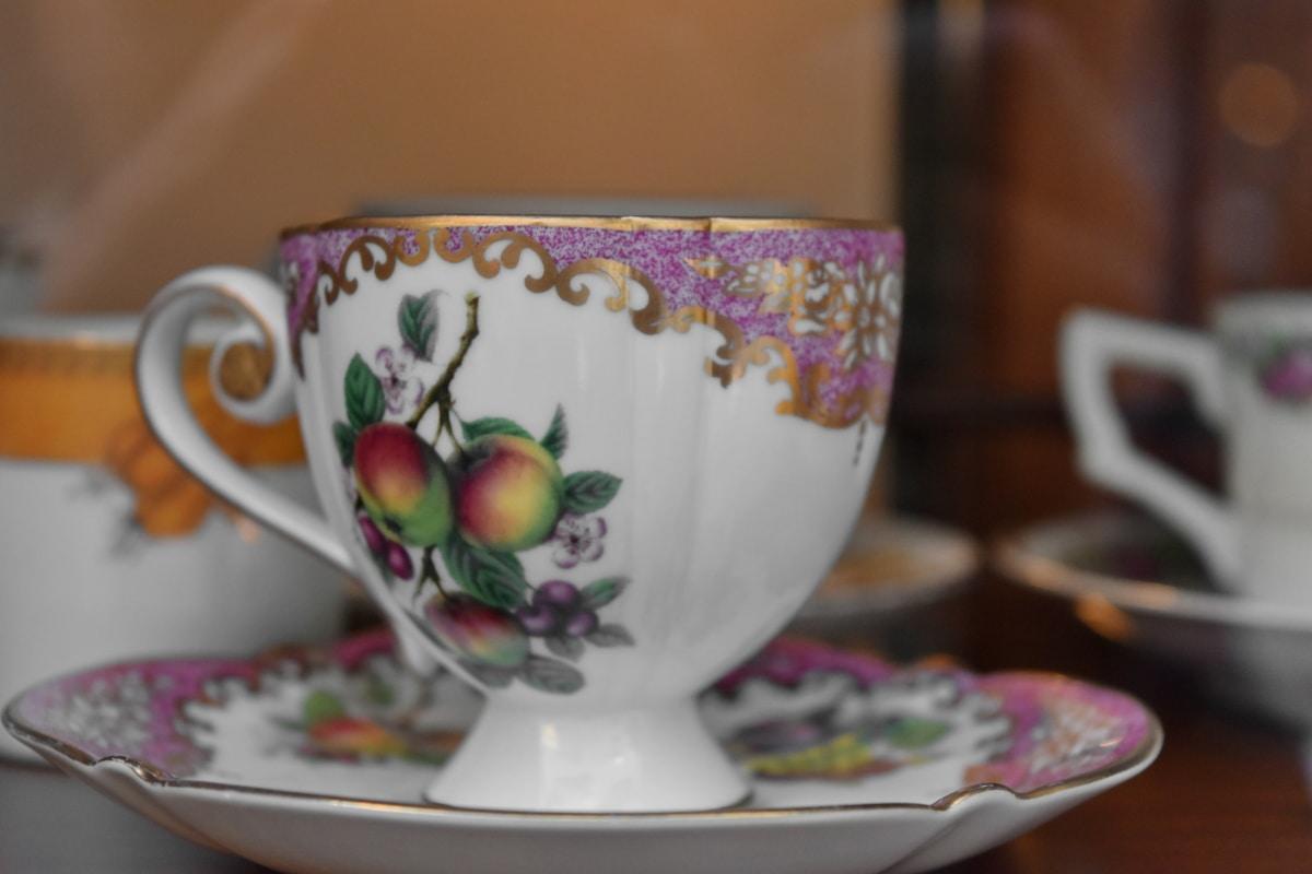 håndlavede, stadig liv, porcelæn, Cup, Bordservice, krus, keramik, indendørs