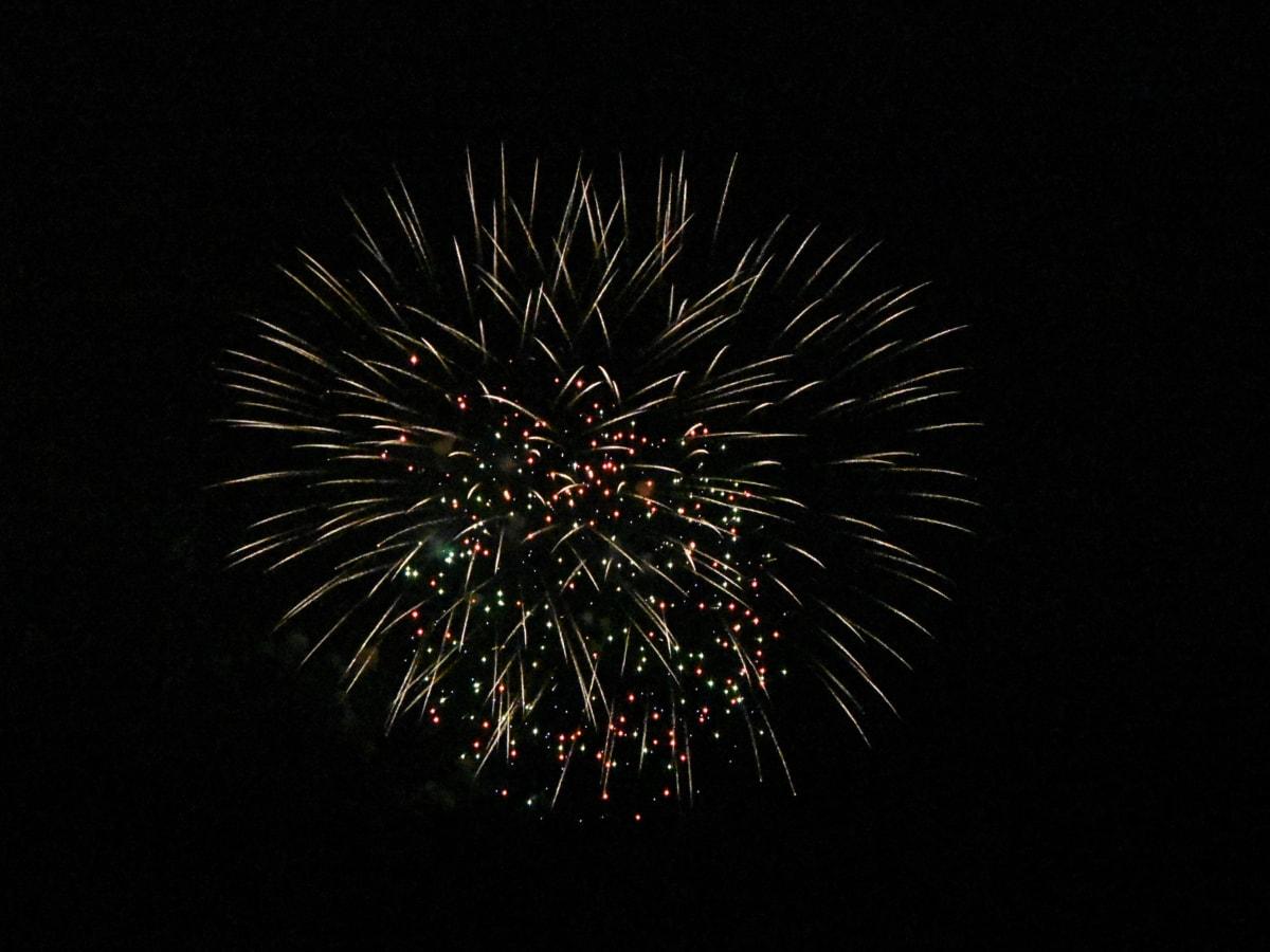 ohňostroj, noc, Oslava, festival, explózia, ohňostroj, svetlo, tmavé