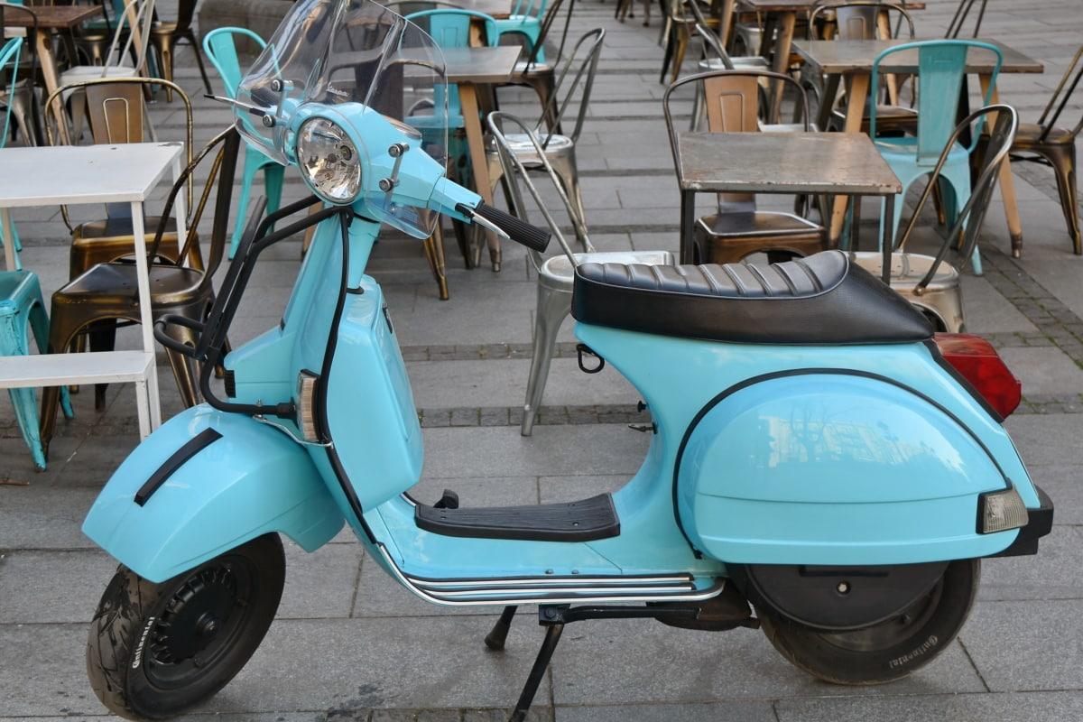 slavný, Itálie, mopedu, minibike, vozidlo, motocyklu, sídlo, kolečko